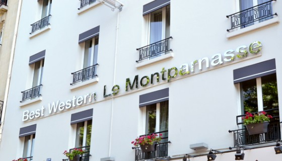 Situation best western hotel le montparnasse paris 6 for Hotel best western paris